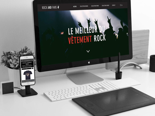 Refonte du site ROCK AND FAN