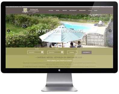 creation site web hotel par lacky agence web