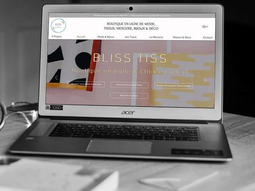 """Refonte du site """" Bliss Tiss """""""