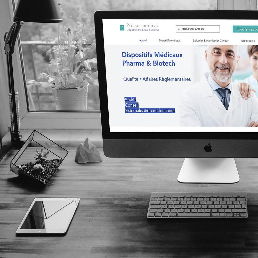 Conseils et Consulting Web pour PREISO Médical | Lacky Agence Web