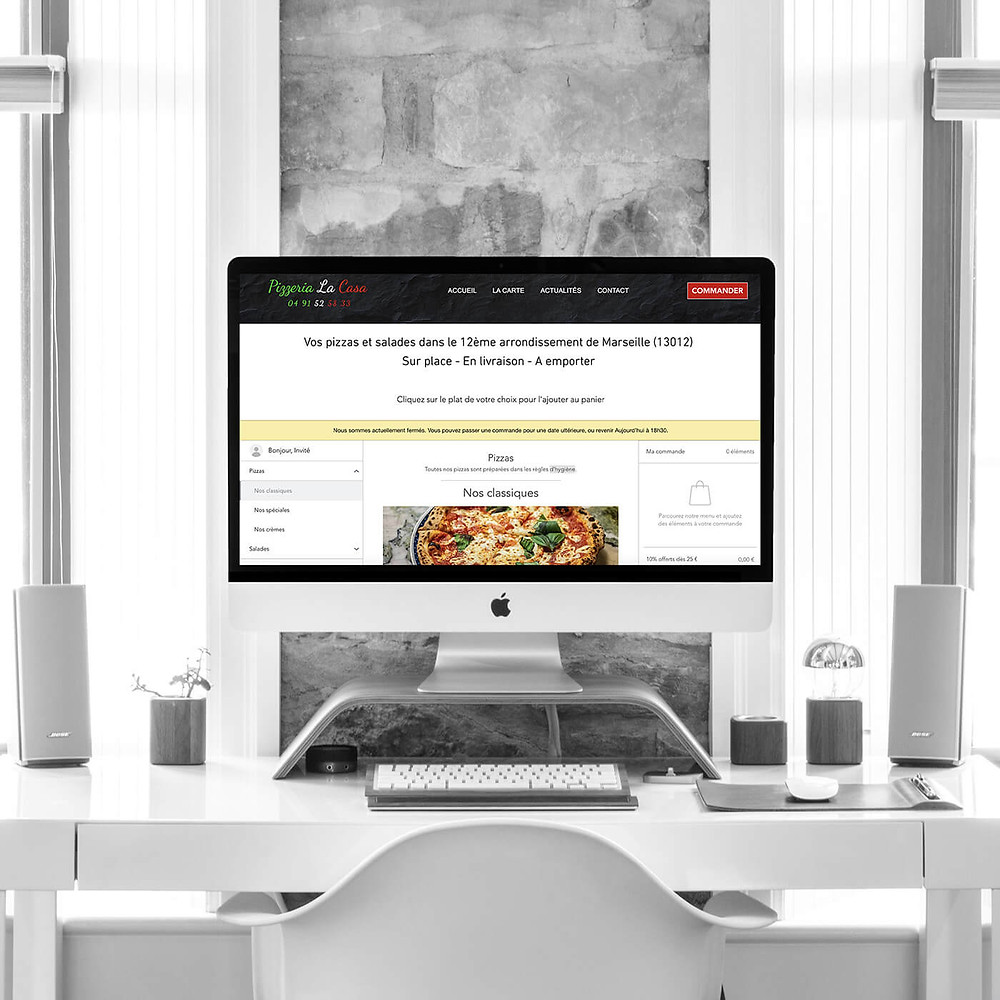 Refonte du site Pizzeria La Casa | Lacky Agence Web