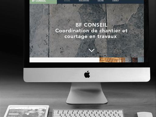 "Création du site "" BF Conseil 54 ""."