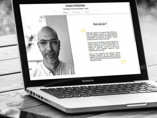 Création du site web de Walid HAMDANA par l' Agence Web Lacky