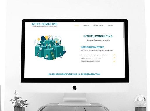 Lacky Agence Web : Création du site Intuitu Consulting