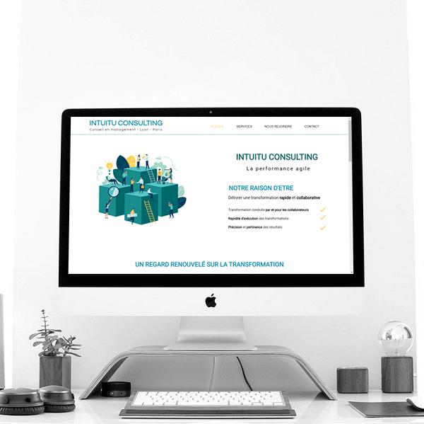 Création site Intuitu Consulting par Lacky Agence Web