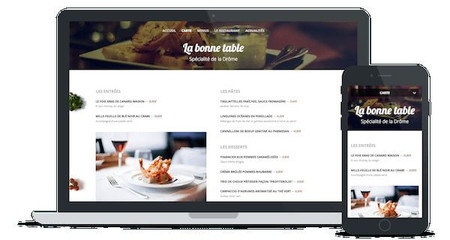 site restaurants internet par Lacky Agence Web Marseille