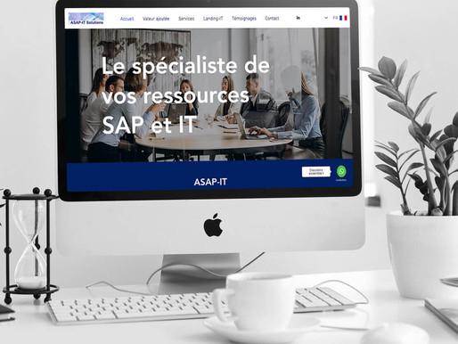 """Création du site """"Asap-it""""."""