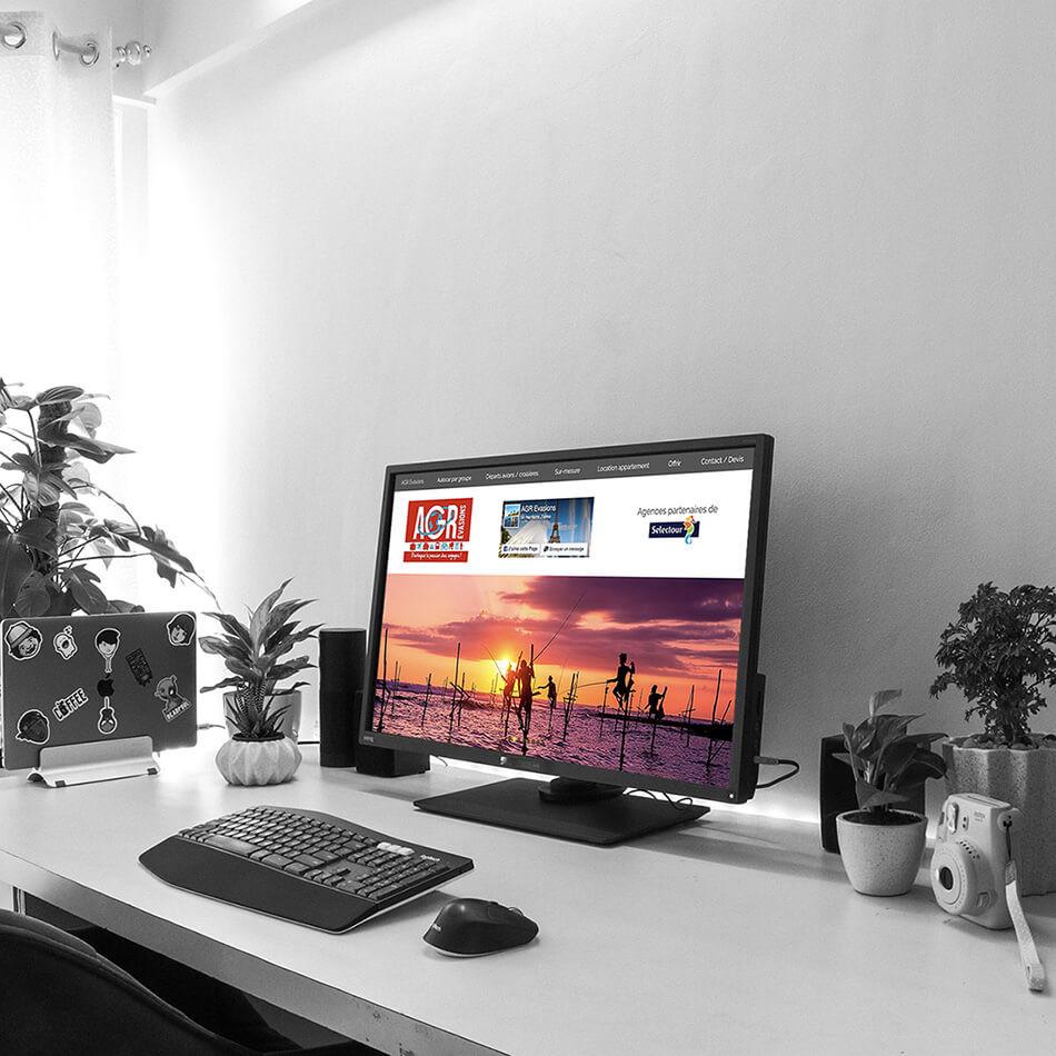 Refonte du site AGR ÉVASIONS   LACKY AGENCE WEB