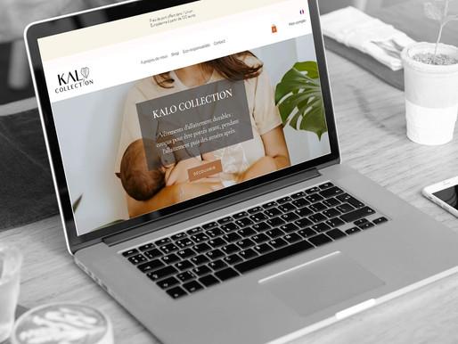 Création d'un site e-shop pour Kalo Collection