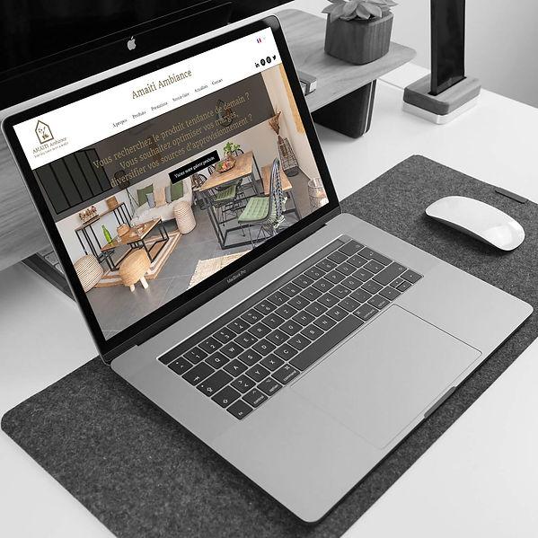 Amaiti Ambiance - Création de site web