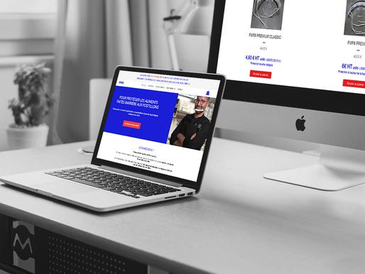 """Lacky Agence Web : Refonte du site de protection anti-postillons """"FMP8"""""""