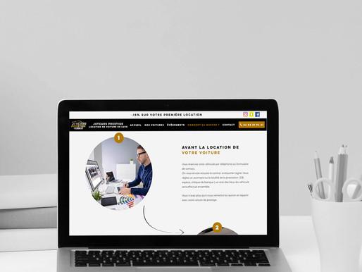 """Création d'un site vitrine pour """" Jetcars Prestige """""""
