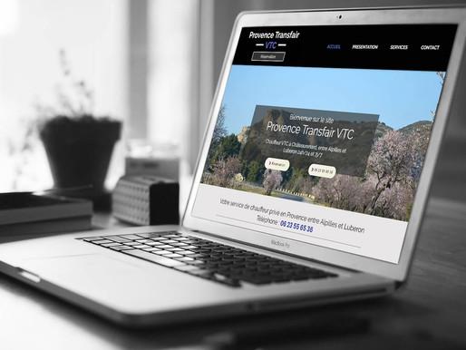 "Création du site "" Provence Transfair VTC """