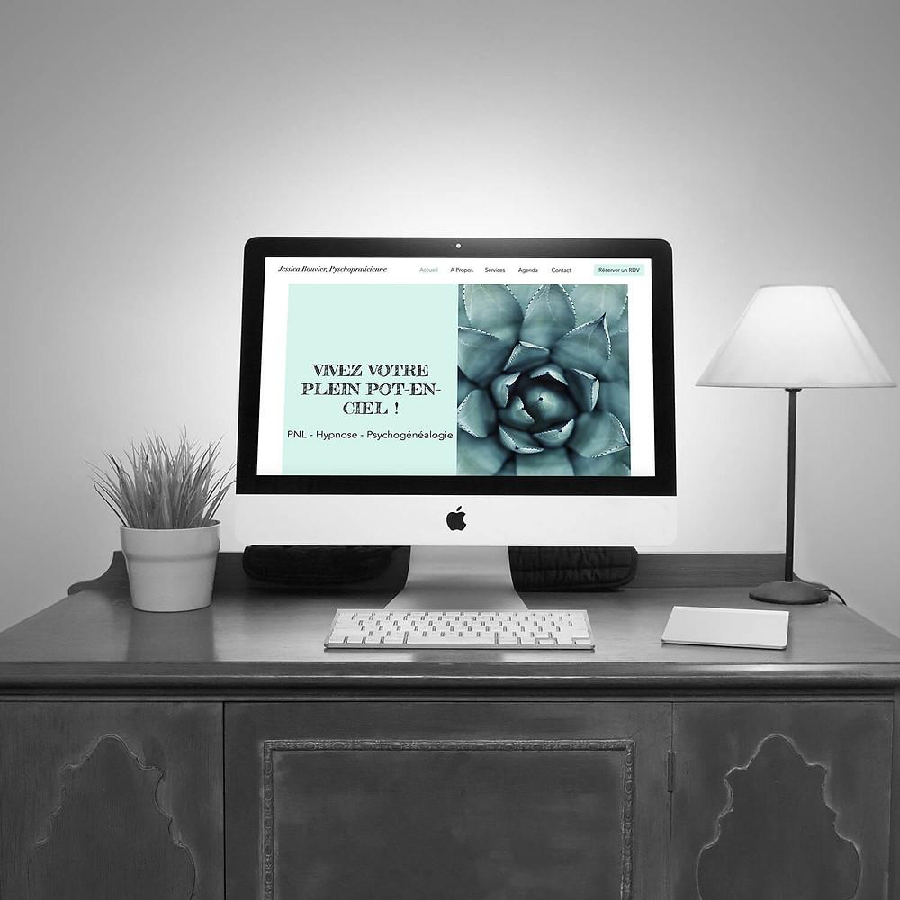 Améliorations du site pour Jessica Bouvier | Lacky Agence Web