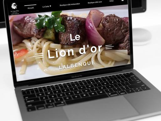 """Refonte du site """" Le Lion d'Or Lalbenque """""""