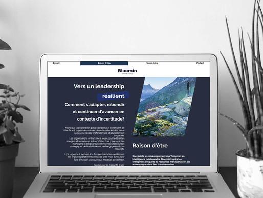 """Création du site """"Bloomin""""."""