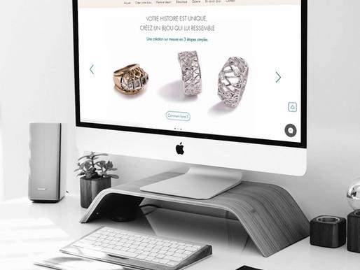 Intégration et configuration de l'e-shop du site de Julie Charlotte Garnier
