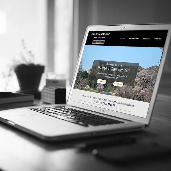 Provence Transfair VTC - Création de site web