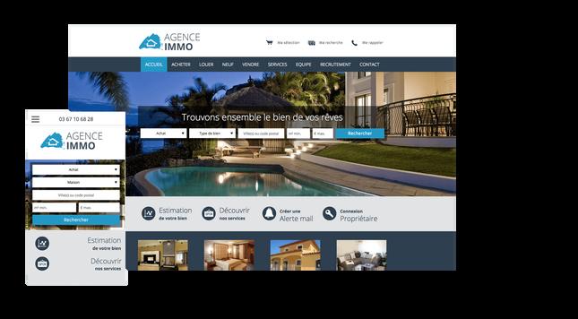 Création site immobilir marseille agence web
