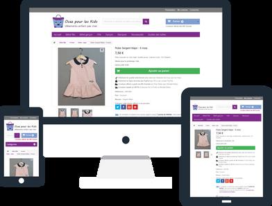 creation boutique en ligne par Lacky agence web