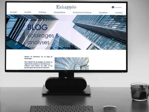 """Création du Blog """" Echappée """""""