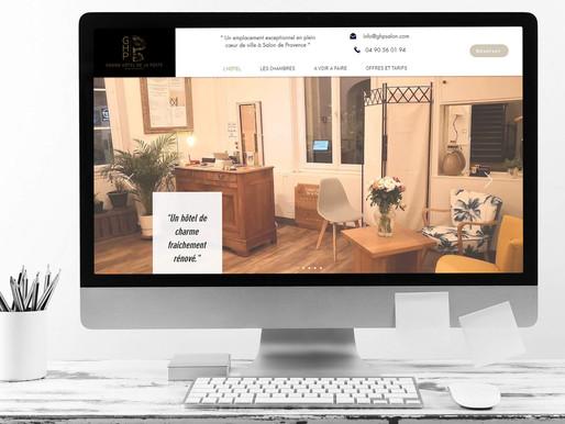 """Optimisation et référencement du site du """" Grand hôtel de la poste """" à Salon-de-Provence."""