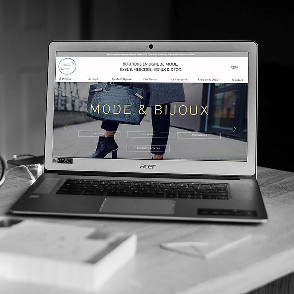 Blisstiss Tissus - Refonte de site web