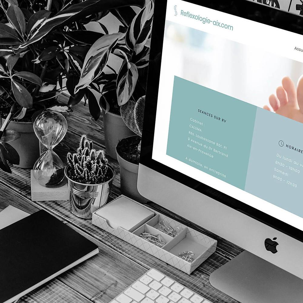 Référencement site Reflexologie Aix I Lacky Agence Web