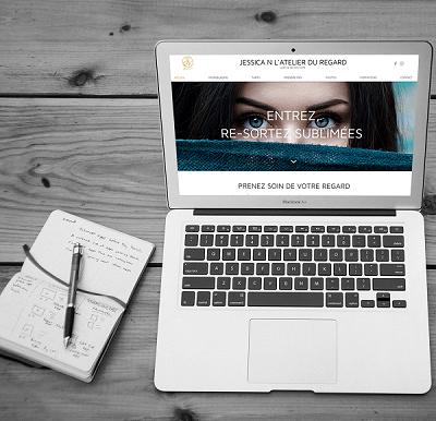 Refonte du site Jessica N L' Atelier du Regard par l' Agence Web Lacky
