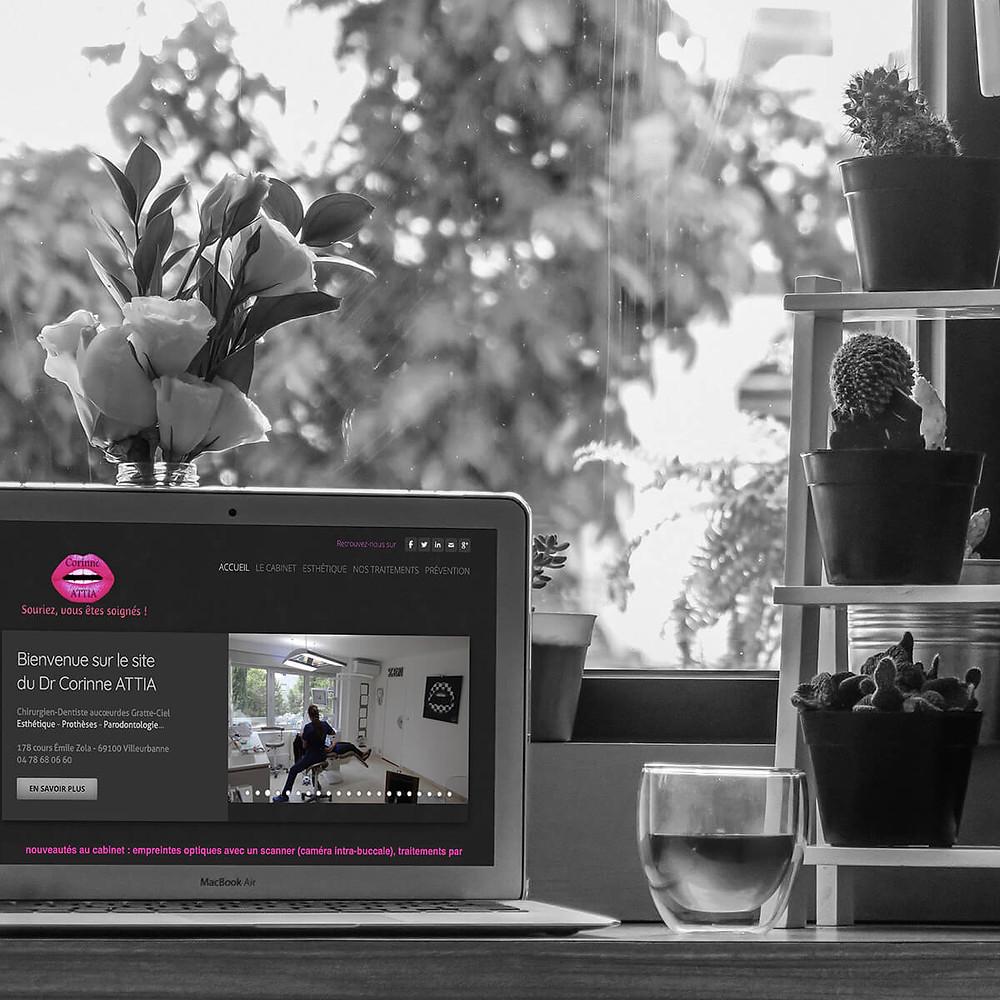 Création et gestion site Corinne ATTIA | Cabinet Dentaire | Lyon - Villeurbanne | Lacky Agence Web
