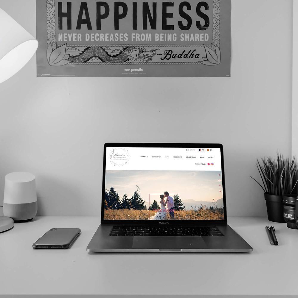Amélioration du site pour Celine Pech | Lacky Agence Web