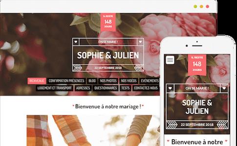 création web mariage par lacky agence web marseille