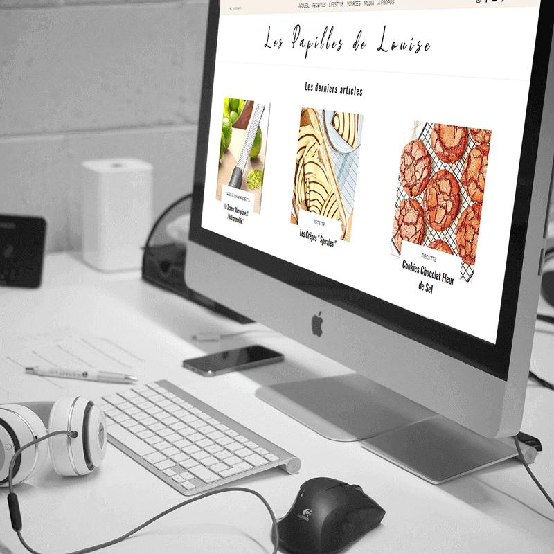 Refonte site Les Papilles de Louise | Lacky Agence Web | Marseille
