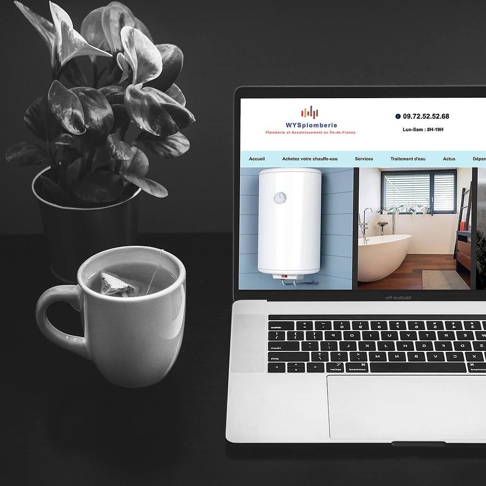 Refonte du site Wysplomberie | Lacky Agence Web