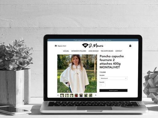 """Création du site """"Polaires moura""""."""