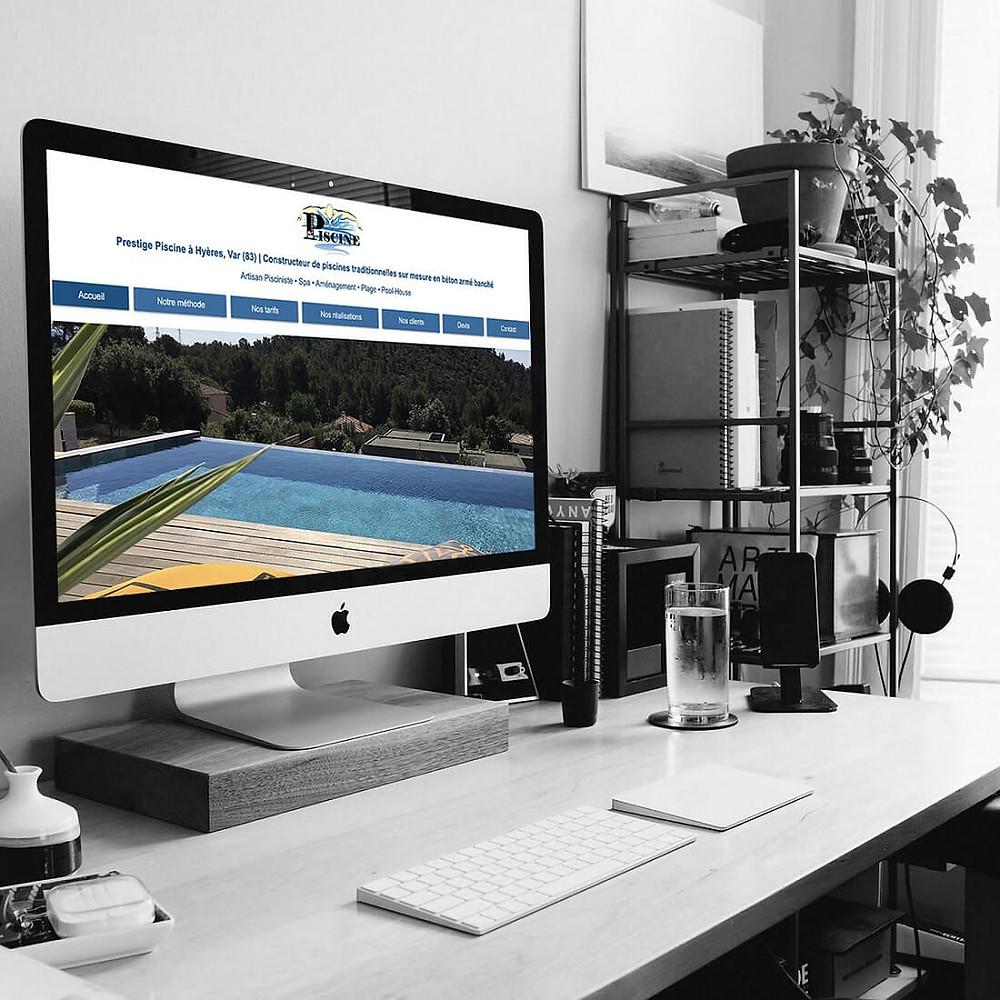Refonte et Référencement de Prestige Piscine | LACKY - Agence Web