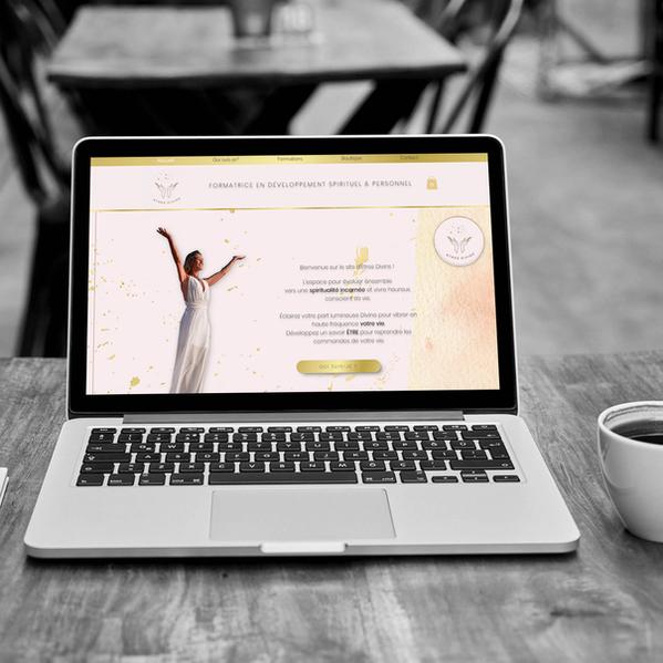 Etres divins - Création de site web