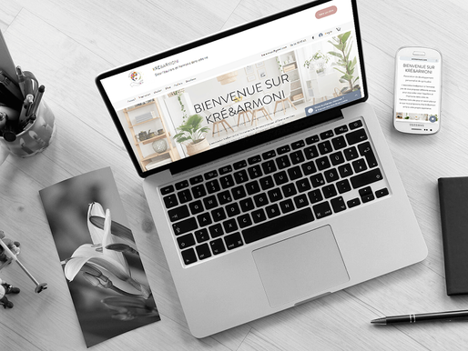 Lacky Agence Web : Référencement du site Kré&Armoni
