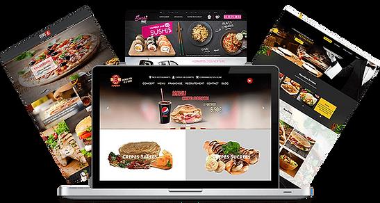 Création site restaurants fast food