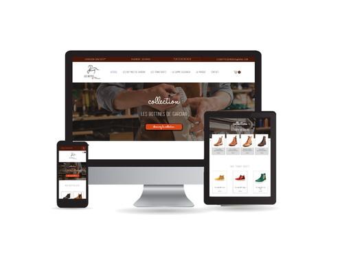 Nouvelle création de site + création du logo pour Les Bottes de Marius