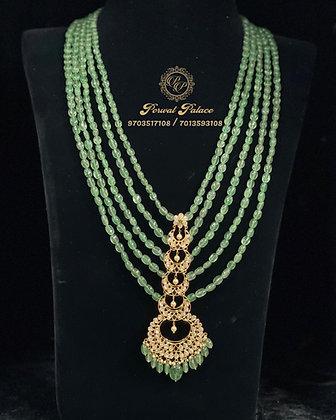 Grand Emeralds Rani Haar . Wt-12 gms