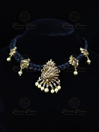 Beautiful Light Weight PEACOCK Necklace Combined with SOUTH SEA PEARLS-5.600G