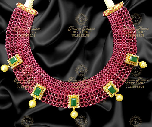 Beautiful Lightweight Ruby Emerads Necklace - 8.200g