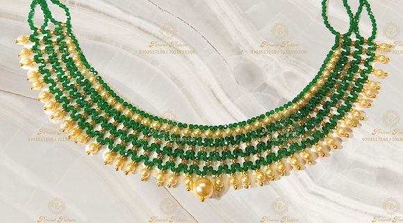Beautiful Ultra Lightweight DD balls+ Emeralds Crystals Mesh Neck-3.800g