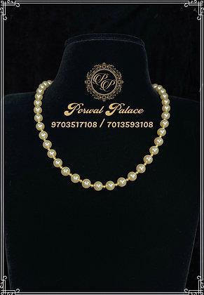 Swarovski Pearls Gold Balls Mala . Wt-2 gms