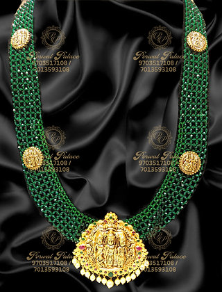 Beautiful RAMPARIVAR Long Haram with High Quality Emeralds Crystals-14.000g
