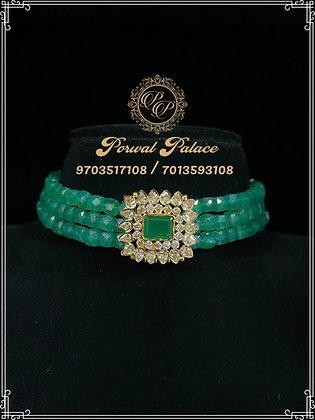Emeralds Czs Choker . Wt-4.100 gms