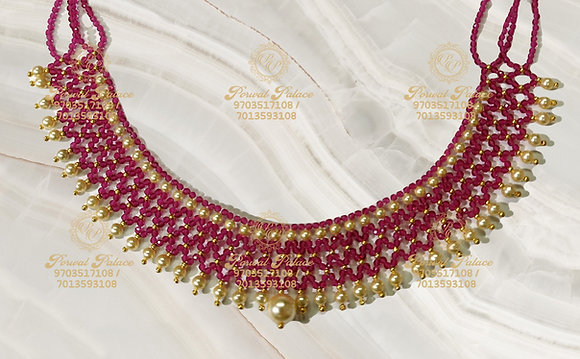 Beautiful Ultra Light weight RUBY Crystals Mesh Neck-2.200g
