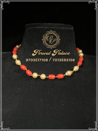 Corals Pearls Chain . Wt-5 gms