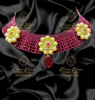 Beautiful Lightweight Ruby Necklace With SouthSea Pearls-5.800g